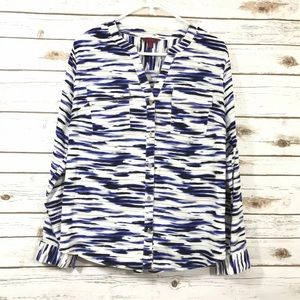 212 Collection Blouse Top V Neck